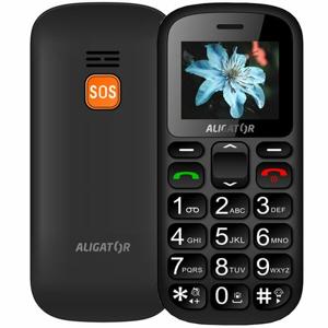 Aligator A321 Senior Dual SIM, Šedo-čierny + stolná nabíjačka