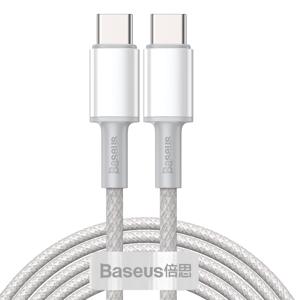 BASEUS 100W kábel USB Typ-C - Typ-C 2 metre biely