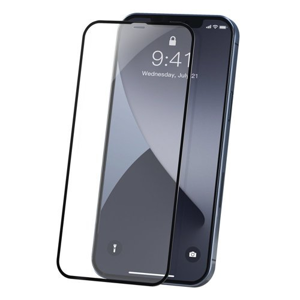 BASEUS 2x 3D Tvrdené sklo Apple iPhone 12 / 12 Pro čierne