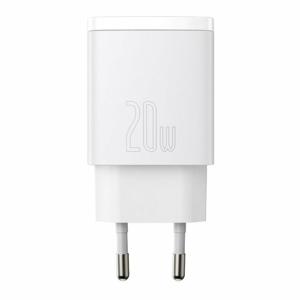 Baseus CCXJ-B02 Compact Quick Charger USB/USB-C 20W White
