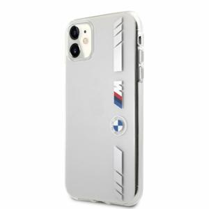 BMHCN61MKTSS BMW M PC/TPU Silver Stripes Zadní Kryt pro iPhone 11 Transparent