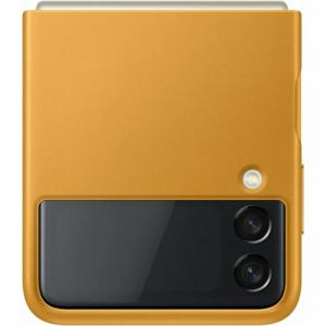 EF-VF711LYE Samsung Kožený Kryt pro Galaxy Z Flip 3 Mustard