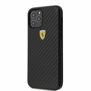 FERCAHCP12MBK Ferrari On Track Carbon Kryt pro iPhone 12/12 Pro 6.1 Black