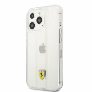 FES3SHCP13XTR Ferrari PC/TPU 3D Stripes Zadní Kryt pro iPhone 13 Pro Max Transparent