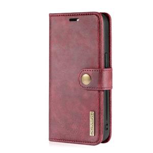 FORCELL DG.MING Peňaženkový obal 2v1 Apple iPhone 13 Pro červený