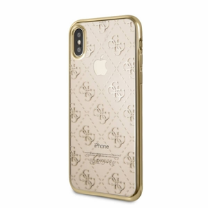FORCELL GUESS (GUHCPXTR4GG) Silikónový obal Apple iPhone XS zlatý