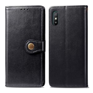 FORCELL LEATHER BUCKLE Peňaženkový obal Xiaomi Redmi 9A / 9AT čierny