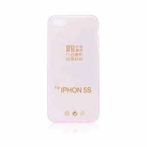 GUMENÉ ULTRA tenké (0,3mm) puzdro určené na iPHONE 5/5S/SE ružové