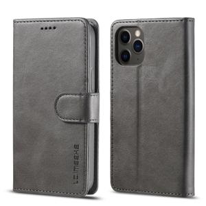 IMEEKE  Peňaženkový kryt Apple iPhone 12 / 12 Pro šedý