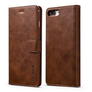 IMEEKE  Peňaženkový kryt Apple iPhone 7 / iPhone 8 / iPhone SE 2020 tmavohnedý
