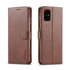 IMEEKE Peňaženkový kryt Samsung Galaxy A41 tmavohnedý