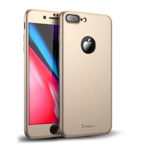 IPAKY 360° Ochranný obal + tvrdené sklo Apple iPhone 8 Plus zlatý