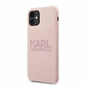 KLHCN61STKLTLP Karl Lagerfeld Stack Pink Logo Silikonový Kryt pro iPhone 11 Pink