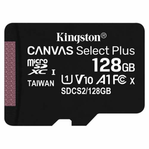 MicroSDXC karta KINGSTON 128GB Canvas Select (bez adaptéra)