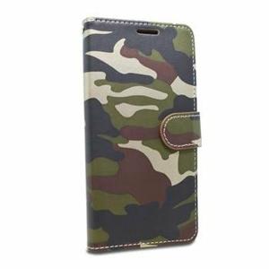 Puzdro Army Camouflage Book Xiaomi Redmi Note 7 - zelené