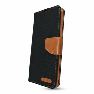Puzdro Canvas Book Samsung Galaxy A02s A025 - čierne