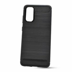 Puzdro Carbon Lux TPU Samsung Galaxy A41 A415 - čierne