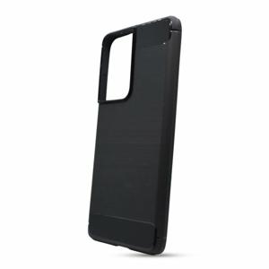Puzdro Carbon Lux TPU Samsung Galaxy S21 Ultra G998 - čierne