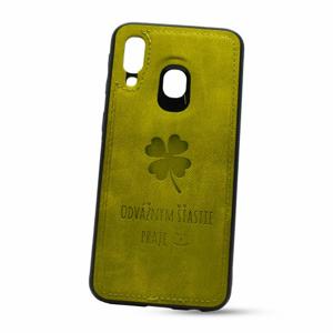 Puzdro Design TPU Samsung Galaxy A40 A405 vzor Lucky - zelené