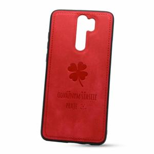 Puzdro Design TPU Xiaomi Redmi Note 8 Pro vzor Lucky - červené