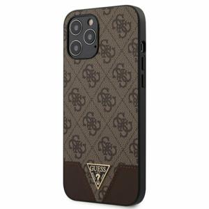 Puzdro Guess pre iPhone 12 Pro Max (6.7) GUHCP12LPU4GHBR silikónové, hnedé