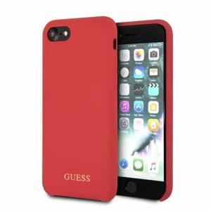 Puzdro Guess pre iPhone 7/8/SE2020 GUHCI8LSGLRE silikónové, červené