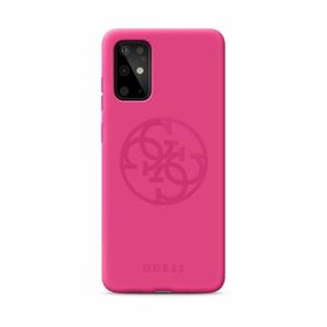 Puzdro Guess pre Samsung Galaxy S20 GUHCS62LS4GFU silikónové, ružové