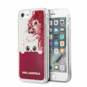 Puzdro Karl Lagerfeld pre iPhone 7/8 KLHCI8PABGFU silikónové, tmavoružové