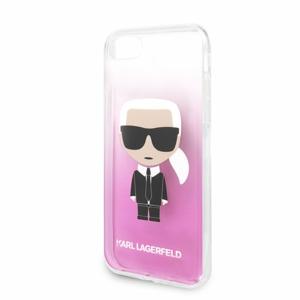 Puzdro Karl Lagerfeld pre iPhone 8/SE2020 KLHCI8TRDFKPI silikónové, ružové