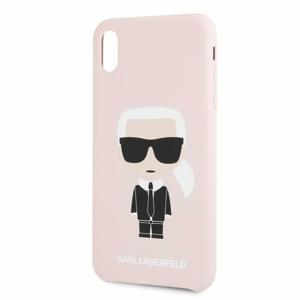 Puzdro Karl Lagerfeld pre iPhone XR KLHCI61SLFKPI silikónové, ružové