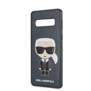 Puzdro Karl Lagerfeld pre Samsung Galaxy S10 KLHCS10IKPUBL imitácia kože, modré