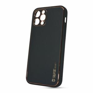 Puzdro Leather TPU iPhone 12 Pro (6.1) - čierne