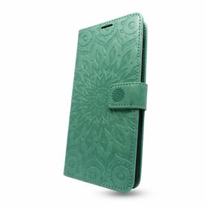 Puzdro Mezzo Book iPhone 13 Pro Max vzor mandala - zelené