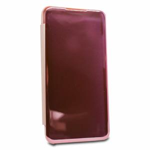 Puzdro Mirror Clear View Book Xiaomi Redmi 7 - ružové