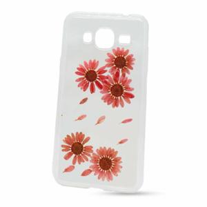 Puzdro NoName Real Flowers TPU (skutočné kvety) Samsung Galaxy J3 J320 2016 vzor 6 - ružové