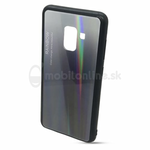 Puzdro Rainbow Glass TPU Samsung Galaxy A8 A530F - čierne