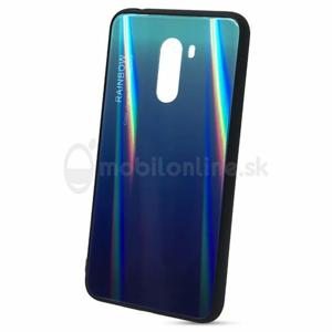 Puzdro Rainbow Glass TPU Xiaomi Pocophone F1 - modré