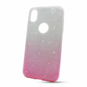 Puzdro Shimmer 3in1 TPU iPhone XR - strieborno-ružové