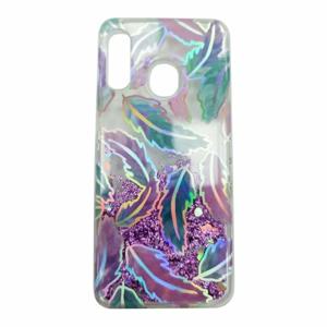 Puzdro Shimmer Design TPU Samsung Galaxy A20e A202 - lístie