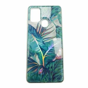 Puzdro Shimmer Design TPU Samsung Galaxy A21s A217 - zelené