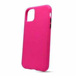 Puzdro Solid Silicone TPU iPhone 11 Pro (5.8) - neon ružové