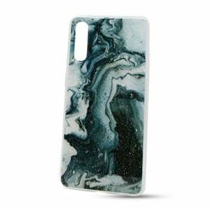 Puzdro Vennus Marble TPU Samsung Galaxy A70 A705 vzor 5 - zeleno-biele