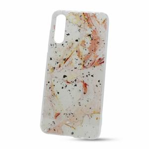 Puzdro Vennus Marble TPU Samsung Galaxy A70 A705/A70s A707 vzor 9 - bielo-ružové