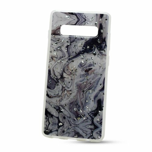 Puzdro Vennus Marble TPU Samsung Galaxy S10+ G975 vzor 2 - bielo-čierne