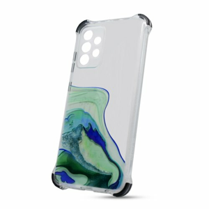 Puzdro Water TPU Samsung Galaxy A52 A525 vzor 3 - zelené