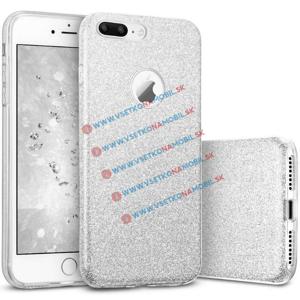 REMAX GLITTER TPU Kryt Apple iPhone 7 Plus strieborný