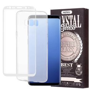 REMAX Priehľadný obal + 3D ochranné sklo Samsung Galaxy S8 Plus biele
