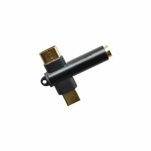 Rozdvojka 2v1 USB-C/3.5mm jack Čierna