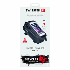 """Vodotesné puzdro na bicykel Swissten č.2 - čierne (veľkosť XXL - 6,7"""")"""